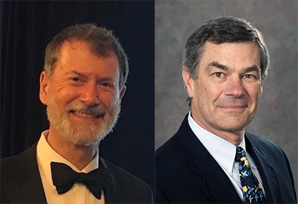 Geoffrey Ibbott, PhD, ABR Associate Executive Director for Medical Physics, and J. Anthony Seibert, PhD, ABR Governor
