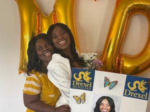 Dr. Koomson celebrates Match Day with her mother.